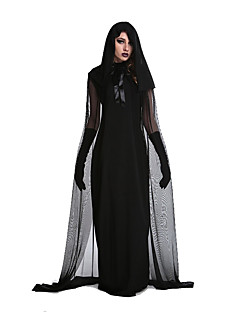 Cosplay Costumes / Party Costume Wizard/Witch Festival/Holiday Halloween Costumes Black Patchwork Dress / More Accessories Halloween