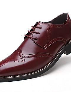 Herren-Outdoor-Hochzeit Büro Lässig Party & Festivität-Leder-Blockabsatz Block Ferse-Komfort Bullock Schuhe formale Schuhe-