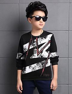 Boy's Casual/Daily Print TeeCotton Winter Black / White