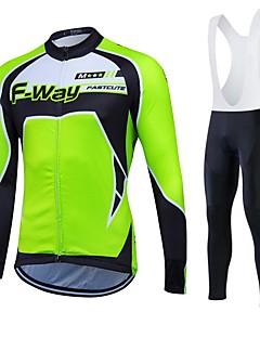 Fastcute Camisa para Ciclismo Homens Mulheres Unisexo Manga Longa Moto Calças Moletom Jaquetas em Velocino / Lã Camisa/Roupas Para