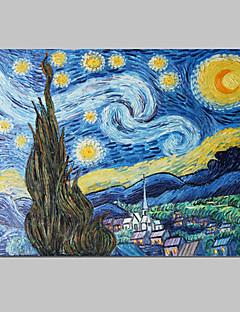 Handgeschilderde Abstract / Beroemd Eén paneel Canvas Hang-geschilderd olieverfschilderij For Huisdecoratie