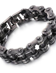 Heren Armbanden met ketting en sluiting Modieus Roestvast staal Geometrische vorm Sieraden VoorFeest Halloween Dagelijks Causaal