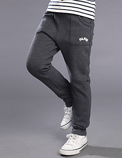 Boy's Casual/Daily Solid PantsCotton / Polyester Spring / Fall Black / Gray