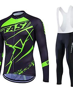 Fastcute Camisa para Ciclismo Homens Mulheres Unisexo Manga Longa Moto Meia-calça Tights Bib Calças Moletom Jaquetas em Velocino / Lã