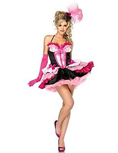 Cosplay Kostýmy Kostým na Večírek Královna Pohádkové Festival/Svátek Halloweenské kostýmy Růžová Patchwork Šaty Více doplňkůHalloween