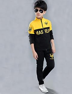 Boy's Sports Print Clothing SetCotton Winter / Fall Yellow / Gray