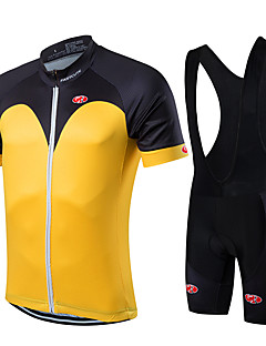 Fastcute® Cycling Jersey with Bib Shorts Men's / Unisex Short Sleeve Bike Breathable / Quick Dry / Front Zipper / Wearable / Compression