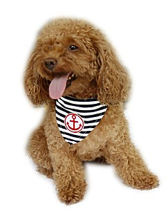 Navy Blue Red Stripe Pet Dog Triangular Bandage Neck Collar Accessories Pet Products