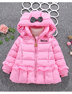 Girl's Casual/Daily Print Down & Cotton PaddedCotton / Rayon Winter / Spring / Fall Green / Pink / Purple / Red