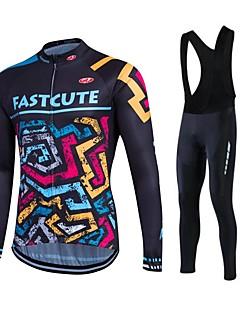 Fastcute Camisa com Calça Bretelle Homens Mulheres Unisexo Manga Longa Moto Calças Moletom Jaquetas em Velocino / Lã Camisa/Roupas Para