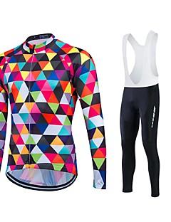 fastcute חולצת ג'רסי לרכיבה לגברים יוניסקס שרוול ארוך אופנייםנושם שמור על חום הגוף ייבוש מהיר עמיד בטנת פליז חדירות ללחות לביש דחיסה 3D