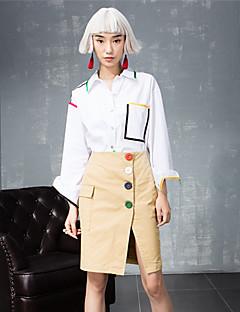 room404 kvinders arbejde simpel alle årstider shirtsolid flipperne langærmet hvid
