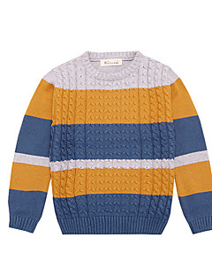 Boy's Casual/Daily Rainbow Sweater & CardiganCotton Winter / Spring Black / Blue