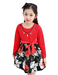 Girl's Casual/Daily Print Dress,Others Spring / Fall Multi-color