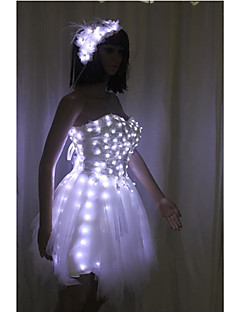 Cosplay Costume/Party Dress/Ball Dress LED Light-Up Flashing Skirt Shinning Bubble Luminous Ballet Skirt Rechargeable Cosplay Costume Halloween Dress