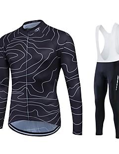 Fastcute Camisa com Calça Bretelle Homens Mulheres Unisexo Manga Longa Moto Camisa/Roupas Para Esporte Meia-calça Tights Bib Calças