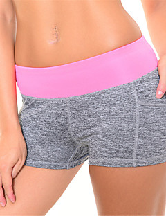 Jóga Pants Rövidnadrágok Fehérnemű Shorts Alsók Légáteresztő Gyors szárítás Tömörítés Természetes Nagy rugalmasságú SportruházatSárga