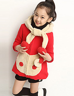 Girl's Casual/Daily Patchwork Down & Cotton PaddedCotton Fall Red / Yellow