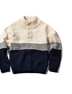 Girl's Casual/Daily Solid Sweater & CardiganCotton Winter / Spring / Fall Beige