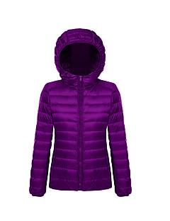 Damen Gefüttert Mantel Einfach Übergröße Solide-Baumwolle Polypropylen Langarm Blau / Rosa / Rot / Weiß / Schwarz / Grün / Orange / Lila