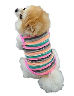 katten honden T-shirt Gilet Hondenkleding Winter Zomer Lente/Herfst StreepSchattig Vakantie Modieus Casual/Dagelijks Sportief Verjaardag