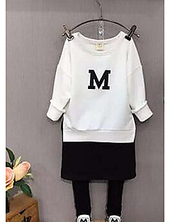 Girl's Casual/Daily Solid Hoodie & SweatshirtCotton Spring / Fall White