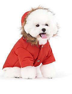 pejsky Kabáty / mikiny Červená / Modrá / Béžová Oblečení pro psy Zima / Jaro/podzim Jednobarevné Zahřívací / Rüzgar Geçirmez /