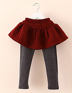 Girl's Casual/Daily Solid Dress / LeggingsWool / Cotton Winter Black / Blue / Red