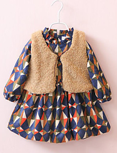 Girl's Casual/Daily Check Overall & Jumpsuit / Vest / Clothing SetCotton Winter / Fall Black / Beige