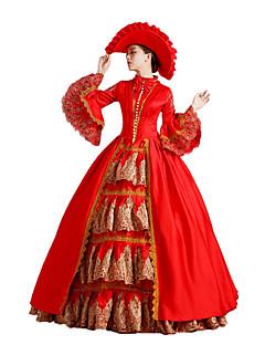 One-Piece/Dress Gothic Lolita / Sweet Lolita / Classic/Traditional Lolita / Punk Lolita Steampunk® Cosplay Lolita Dress Red Floral