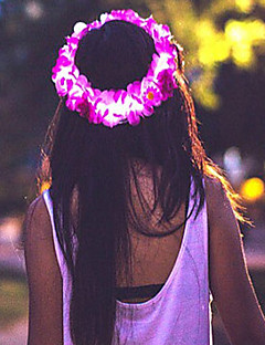 Pink LED Flower Crown/Floral HeadbandLight up Flower Halo/Headband Halloween Coustume Christmas Gift