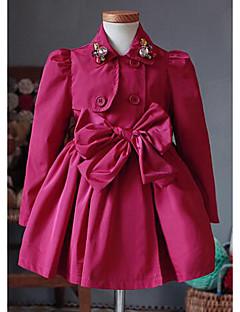 Mädchen Anzug & Blazer-Ausgehen einfarbig Baumwolle Frühling / Herbst Rot