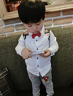 Boy's Casual/Daily Floral ShirtCotton Fall White
