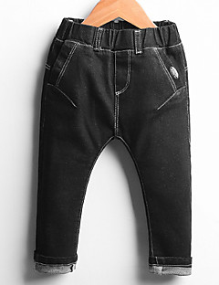 Boy Casual/Daily Solid Jeans-Others Fall