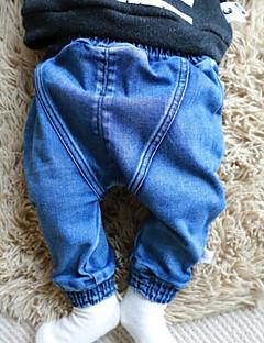 Baby Bukser Bomuld Ensfarvet Casual/hverdag Forår Blå