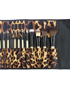 12 stuks Brush Sets Blushkwast Contour Brush Synthetisch haar Beugel Beperkt bacterieën Lip