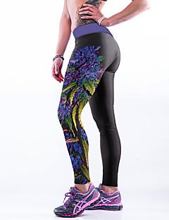 Damer Trykt mønster Legging,Polyester Spandex
