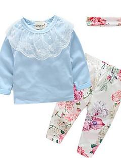 Mädchen Kleidungs Set-Lässig/Alltäglich Druck Baumwolle Frühling / Herbst Blau