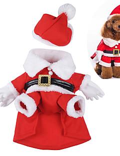 pejsky Kostýmy Červená Oblečení pro psy Zima / Jaro/podzim Komiks Roztomilé / cosplay / Vánoce