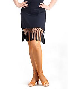 ריקוד לטיני חצאיות טוטו וחצאיות אימון קטיפה גדיל (ים) חלק 1 טבעי חצאית M:45cm-46cm L:46cm-47cm XL:46cm-47cm