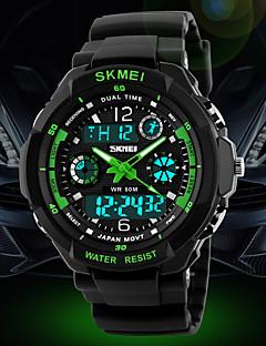 Férfi Sportos óra / Katonai óra / Karóra Japán kvarc LED / LCD / Naptár / Vízálló / Két időzóna / riasztás / Stopperóra Gumi Zenekar Menő