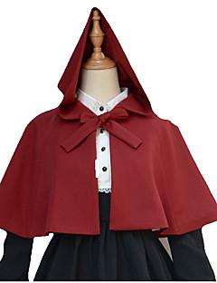 Sweet Lolita Outfits Sleeveless Short Length Red / White / Black Lolita Dress Woolen