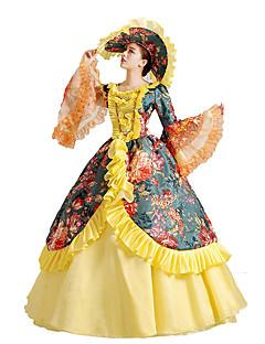 One-Piece/Dress Gothic Lolita / Sweet Lolita / Classic/Traditional Lolita / Punk Lolita Steampunk® Cosplay Lolita Dress Yellow Floral