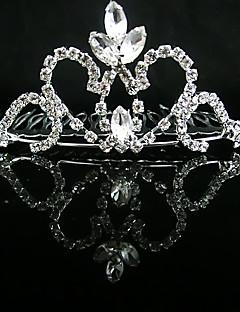 Véus de Noiva Uma Camada Peça para Cabeça com Véu Corte da borda Purpurina Cintilante