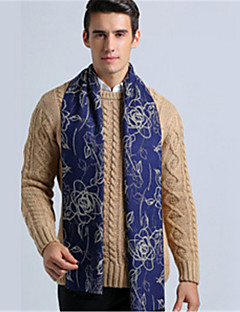 Men Polyester Scarf,Casual Rectangle