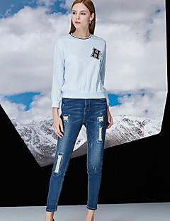 Damen Hose - Street Schick Jeans Baumwolle / Elasthan Unelastisch