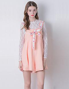 Women's Patchwork Pink Jumpsuits,Cute Strap Sleeveless