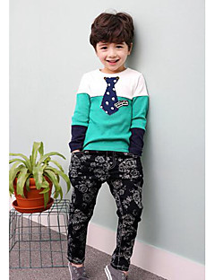 Boy's Casual/Daily Color Block Clothing SetCotton Spring / Fall Green / Yellow