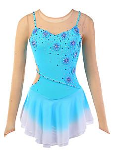 Eiskunstlaufkleider Damen Gurttaschen Eislaufen Kleider Hochelastisch Eiskunstlauf-Kleid Atmungsaktiv / tragbar Blume(n)Elasthan / Seide