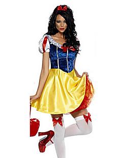 תחפושות קוספליי / תחפושת למסיבה נסיכות / אגדה פסטיבל/חג תחפושות ליל כל הקדושים צהוב / כחול דפוס שמלה / לבוש ראש האלווין (ליל כל הקדושים)